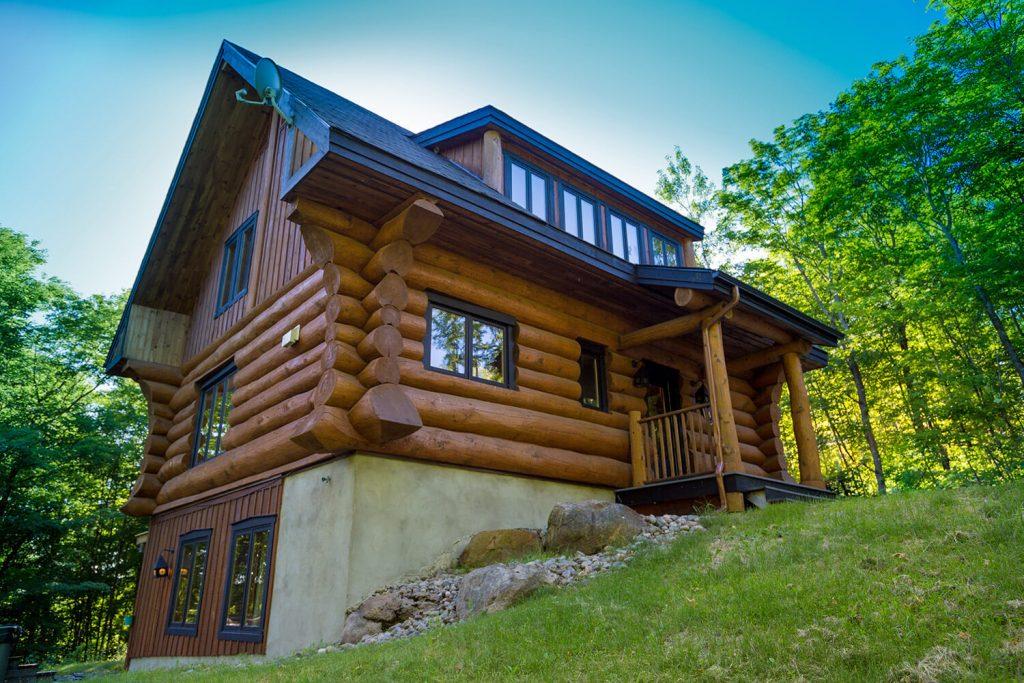 Scandinavian Log Cabin Chalets Rentals C 244 T 233 Nord Tremblant