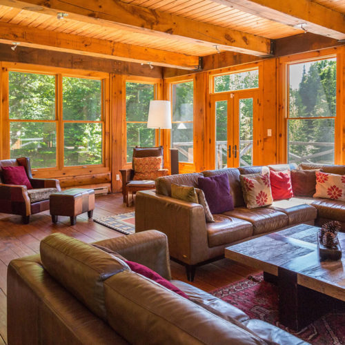 Contemporary - Chalets rentals - Côté Nord Tremblant - Living room 01