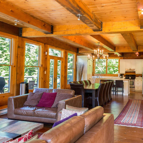 Contemporary - Chalets rentals - Côté Nord Tremblant - Living room 02
